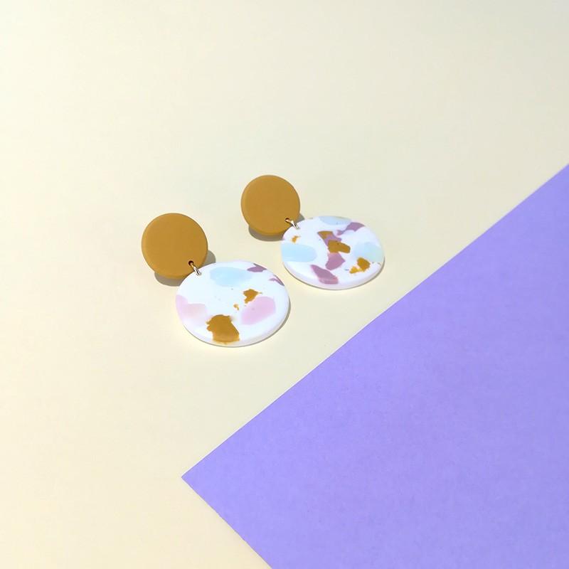 Honeyandmilk - Boucles d'oreilles Terrazzo