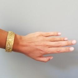Noémie Pichon - Bracelet manchette Herbier