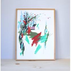Julia Riffiod - Dessin-Cabane format 30 x 40 cm