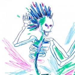 Julia Riffiod - Affiche Petits Squelettes petit format