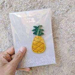 Anne-Lise Pichon - Broche ananas