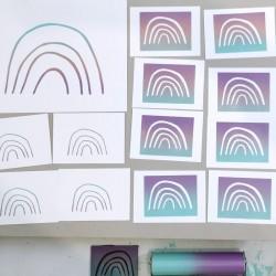 Julia Riffiod - Linogravure Ciel