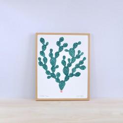 Julia Riffiod - Linogravure Cactus