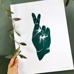 Julia Riffiod - Linogravure Lucky
