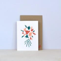 Julia Riffiod - Carte Bouquet de Fleur
