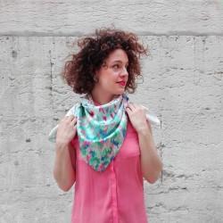 Julia Riffiod - Foulard en soie Camo